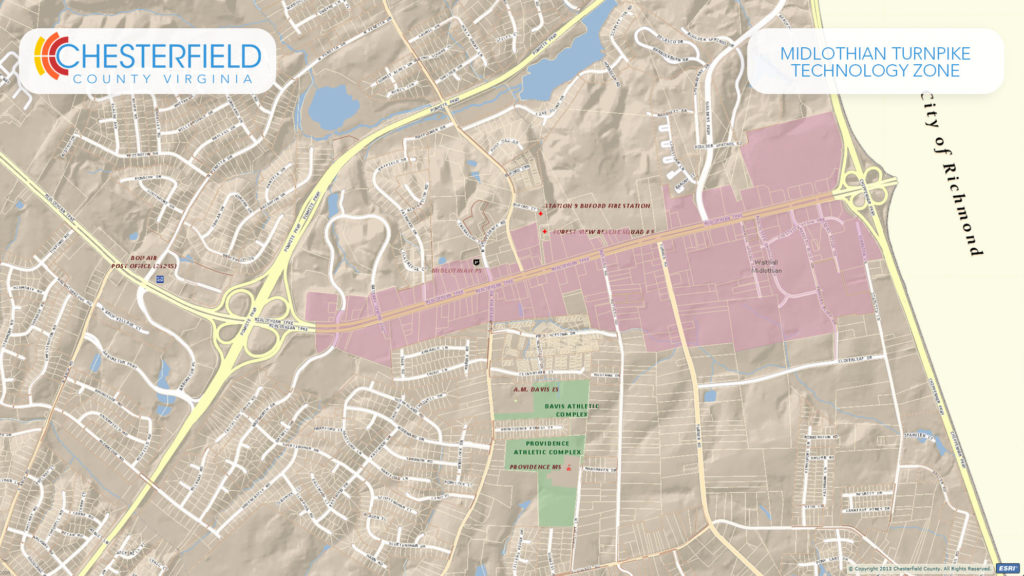 Midlothian Turnpike Technology Zone Maps-