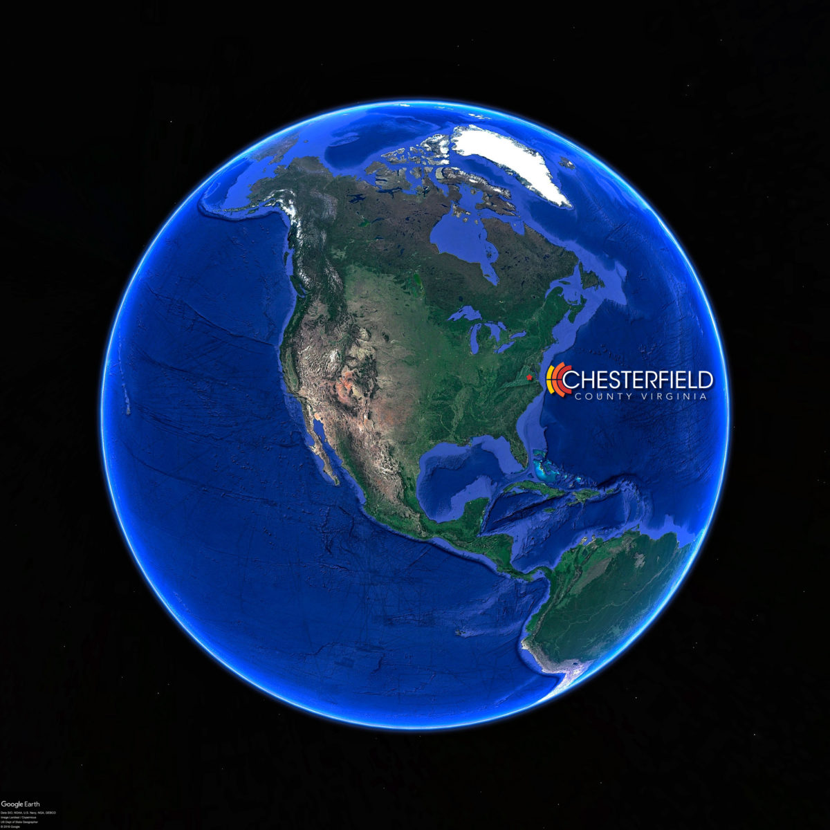 Chesterfield Location Earth